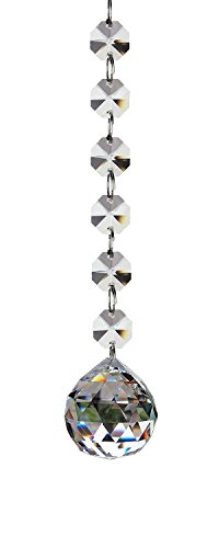 40mm Pendant Bead (Fushing 2 Pcs 1ft Crystal Glass Ball Chandelier Prisms Pendants Parts Beads Strands (40mm))