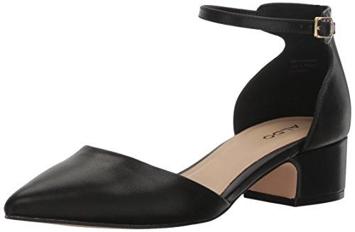 ALDO Women's Zusien Mary Jane Flat, Black Synthetic, 8 B US