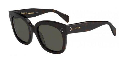 Céline - CL 41805/S NEW AUDREY, Oversize, acetate, women, DARK HAVANA/GREY GREEN(086/1E), - Audrey Sunglasses New