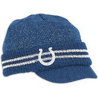 Reebok Indianapolis Colts Sideline Player 2nd Season Visor Knit Hat One Size Fits All