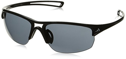 adidas Raylor 2 S Oval Sunglasses, Shiny Black, 60 - Sunglass Adidas