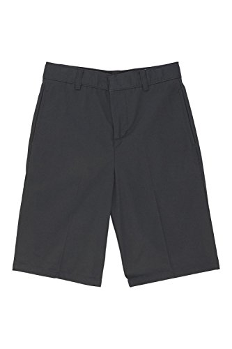 French Toast Big Boys' Basic Flat-Front Short with Adjustable Waist, Grey, 16 by French Toast