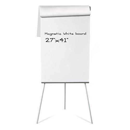 Master of Boards Flip Chart Easel - Dry Erase Easel Portable White Board | Easy Setup | Magnetic | 27