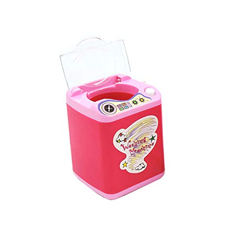 2019 New! Cute Sticker Makeup Brush Cleaner Device Automatic Cleaning Washing Machine Mini Toy (F) (Best Eyeshadow Sticks 2019)