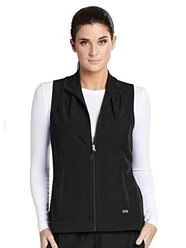 - Barco One 5406 Mock Neck Zipper Vest Black XL