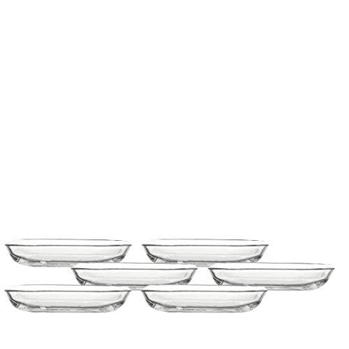 Leonardo 014735 Set 6 Glas Teller Gusto, 17 cm