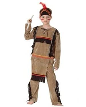 INDIAN BRAVE WARRIOR, BOYS FANCY DRESS COSTUME OUTFIT, SMALL (AGE: 4-6) by DRESS FANTASTIC