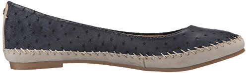 Jackie Women's Groove Blue Flat Ballet qqw4O5nr