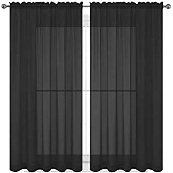 Amazoncom No 918 Emily Sheer Voile Rod Pocket Curtain Panel 59