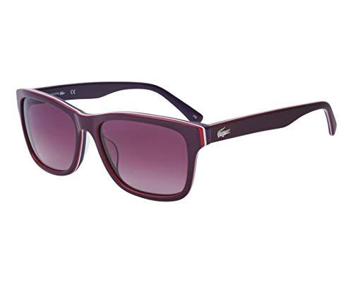 Lacoste L683s Square Sunglasses BURGUNDY/WHITE/PURPLE 55 mm