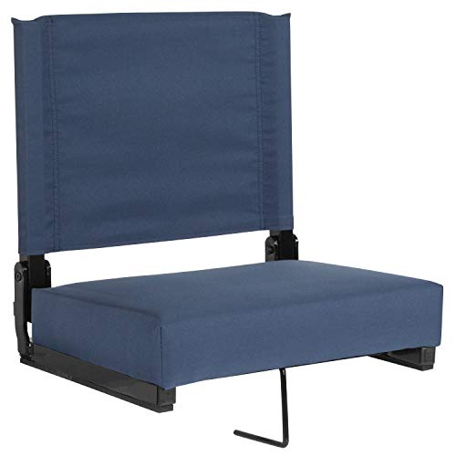 Flash Furniture Grandstand Comfort Seats by Flash with Ultra-Padded Seat in Navy Blue - XU-STA-NAVY-GG (Store In Furniture)