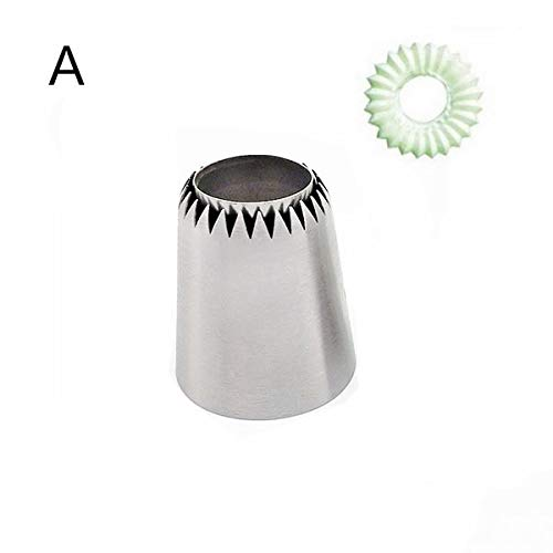1 piece Sulta Ne Ring Cookies Mold Icing Piping Nozzles Sultan tube Stainless Steel Russian Cake Pastry Tips Dessert Decorators 5667