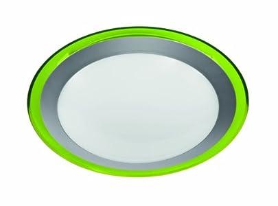 Reality leuchten deckenleuchte acrylring grün kunstoff weiß