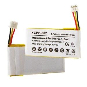 2 200 Mah Replacement Battery - Sennheiser MB Pro 2 Wireless Headset Battery (Li-Pol 3.7V 200mAh) - Replacement for Sennheiser 504374, DW Pro 1 and Pro 2 Wireless Headset Batteries