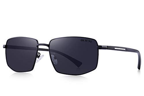 OLIEYE Mens Classic Sunglasses Male Polarized Rectangle Sun glasses For ()