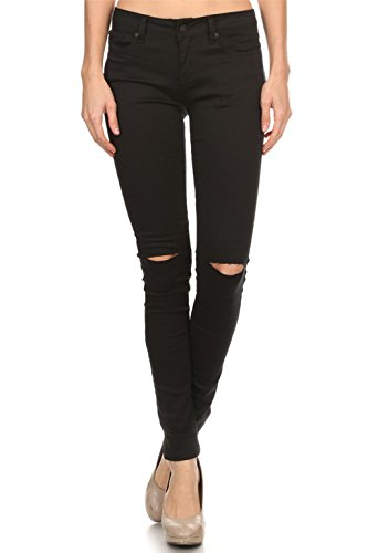 Ripped black skinny jeans cheap - Trenters.com