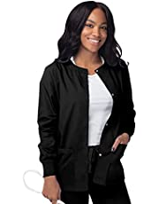SIVVAN Scrubs for Women - Front Snap Warm - Up Jacket