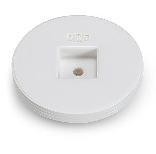 Plug 0.5 Cleanout (Zurn CO2490-PV2 PVC Countersunk Cleanout Plug, 1/2