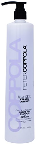 - Peter Coppola: Blondest Color Command Sulfate-Free Toning Shampoo with Azulene, 33.8 oz.