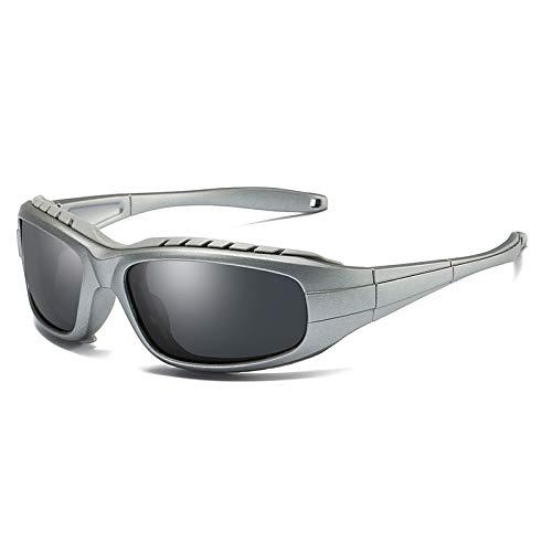 Mjia sunglasses frame Homme Protection polarisées Soleil de de Gray Lunettes Lunettes de Sport Windshield Sports nbsp;UV400 pour Lunettes rrxAnS