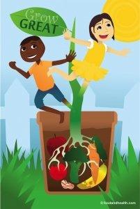 amazon com preschool nutrition poster 12x18 grow great posters