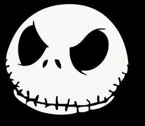 1 x nightmare before christmas white sticker decal jack skellington white car window wall macbook notebook - Jack From The Nightmare Before Christmas