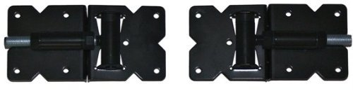 Vinyl Fence Gate Hinges (Black Hinge Pair) for Vinyl and PVC Fences