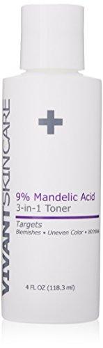 Vivant Skin Care 9 Mandelic Acid 3-in-1 Toner, 4 Ounce