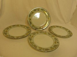 Vintage Noritake Fine China Set of Four (4) Salad Plates in Silvine Pattern 5487