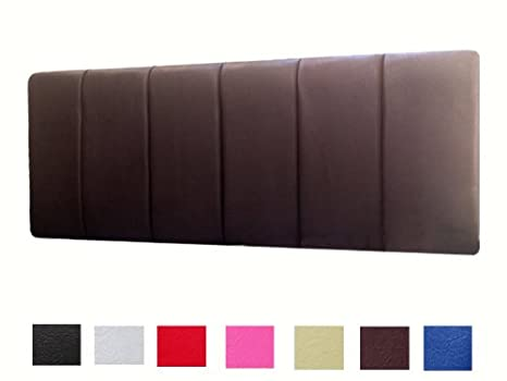 size 40 cf083 81dad 5FT KING SIZE BED GENOA FAUX LEATHER HEADBOARD - CHOICE OF 7 COLOURS  (BROWN) by Genoa