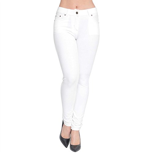 Mujer Blanco Para Jeggings Vaqueros Purl qwt14