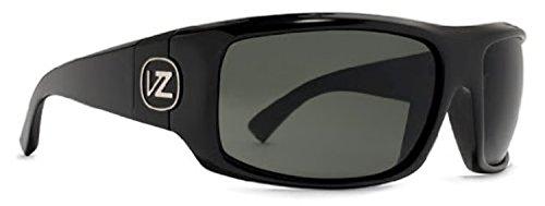 (Von Zipper Clutch Sunglasses Black Gloss/Grey & Carekit Bundle)