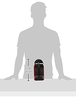 1260 Watt rot DeLonghi Nespresso EN 125.R Kapselmaschine Pixie Electric 0,7 Liter Flexible Tassen-Abstellfl/äche