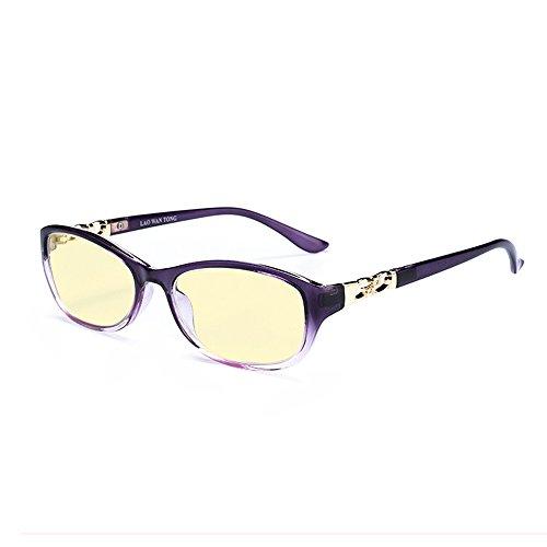 Rafbenson Aspheric Reading Glasses Women Antifatigue Presbyopic Anti-UV (Purple, +3.0) (No Prescription Color Contacts)
