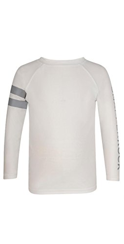 Snapper Rock Boys L/S Rashguard White Arm Band Boys - Ray For Bands Kids