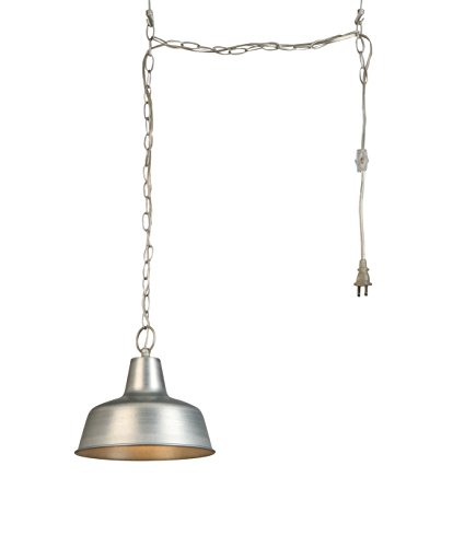 Design House 579409 Mason 1 Swag Light, Galvanized, 10.5