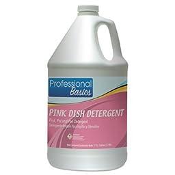 Tol 505920 1 Gallon Professional Basics Pink Dishwashing Detergent Bottle - Bouquet