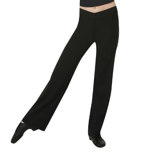 Child V-Front Boot Cut Pants,D5107CBLKL,Black,Large - Child Bootcut Pant