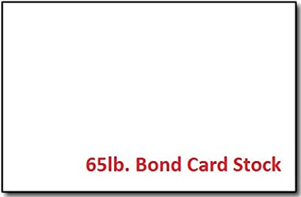 white 65lb bond card stock 5 12 x 8 12quot