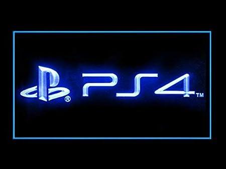 LEDHouse Playstation 4Logo Caracteres Publicidad Neon Cartel Azul