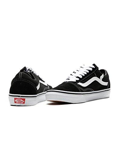 Black M US US B 12 D Skate M Old White EU Shoe Vans 5 Skool M Unisex 13 Women Men 46 wp4q7PHA