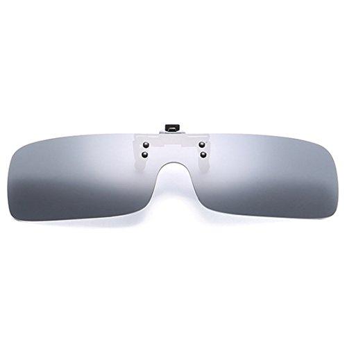 polarizadas Hombres Gris sol Up Clip de en gafas de de día Huicai de visión Mujeres gafas sol miopía UV400 Flip gafas gafas nocturna Retro 8ddqg