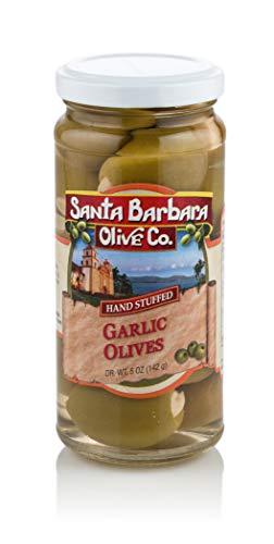 (Santa Barbara Garlic Stuffed Olives, 5-Ounce Jars (Pack of 6))