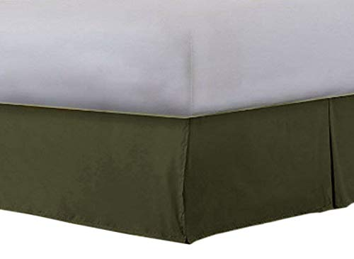 Angel Bedding Easy Fit Pleated Style Bed Skirt/Dust Ruffle with 10 Inch Tailored Drop (Queen Size, Solid Ash Grey) 1500 Series Brushed Microfiber - Covers Bed Legs and Frame ()