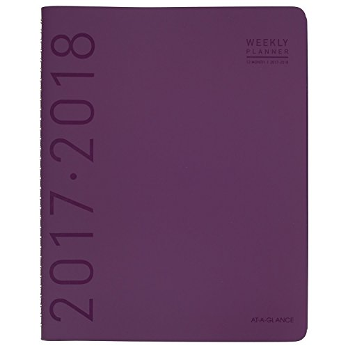 "AT-A-GLANCE Academic Weekly / Monthly Appointment Book / Planner, Contemporary, July 2017 - June 2018, 8-1/4"" x 10-7/8"", Purple (70957X59)"