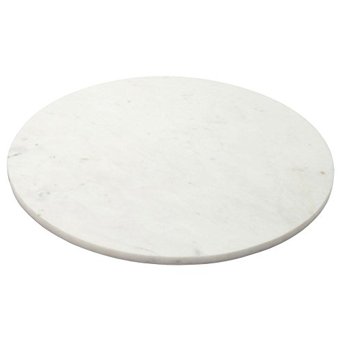 Amber Home Goods ANC-005 Marble Round Cheese/Cutting Board 11.8