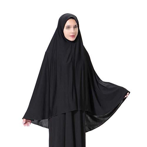BESTOYARD Mujeres Elegantes modestas Musulmanas Hijab Árabes Bufandas de Abrigo Largo islámico Ramadan Shawl - M (Negro)