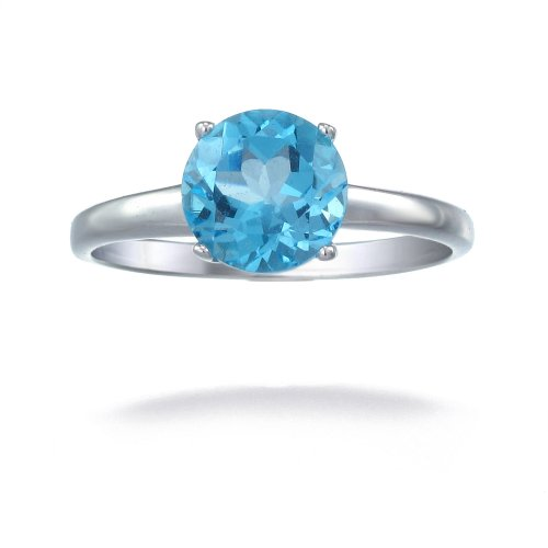 Sterling Silver Swiss Blue Topaz Ring 1.75 CT
