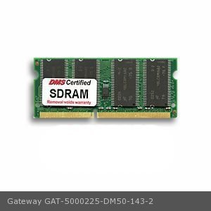 DMS Compatible/Replacement for Gateway 5000225 128MB DMS Certified Memory 144 Pin PC66 16x64 SDRAM SODIMM (8X16) - DMS (Sodimm Pc66 Memory 128mb)