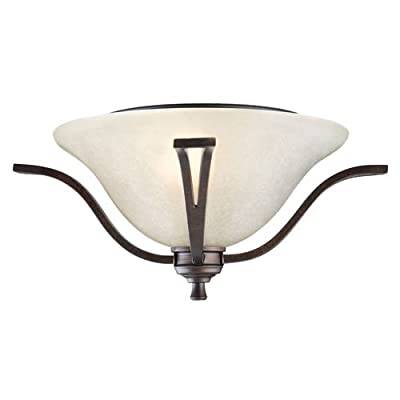 Design House 517532 Ironwood Transitional 2 Light Ambient Lighting Semi-Flush Ce,